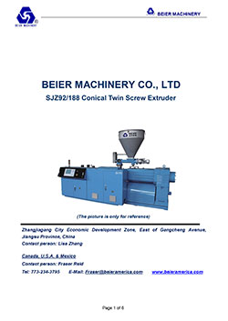 Beier-Conical-Twin-Screw-PVC-Plastic-Extruder