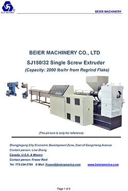 Single-Screw-Plastic-Extruder-2000lb-Per-Hr-from-Regrind-Flake